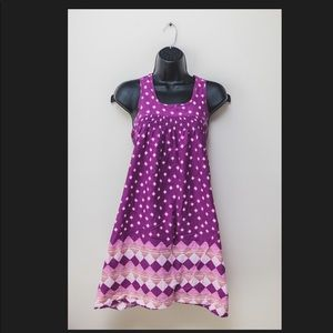Topshop Purple shift dress with tie